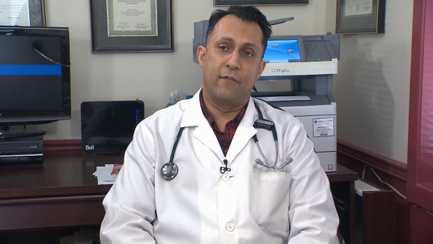 Dr. Alykhan Abdulla talks to CTV News from his office in Manotick, Ont. Abdulla decided to create a clear policy regarding patient recordings after learning that he was unwittingly taped.