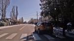 Dash cam captures near miss with pedestrian