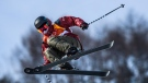 Cassie Sharpe competes during the Freestyle Skiing - Ladies' Ski Halfpipe qualifications at the Phoenix Snow Park on February 19, 2018 in Pyeongchang-gun, South Korea.THE CANADIAN PRESS/HO-COC/Vincent Ethier