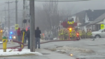 Officials say two residents were taken to hospital for smoke inhalation following a kitchen fire at a Guelph apartment building.