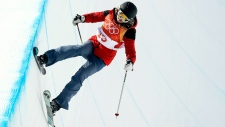 Halfpipe athlete Elizabeth Swaney doesn't attempt