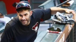 J.D. Martinez at Chase Field in Phoenix, on Oct. 2, 2017. (Ross D. Franklin / AP)