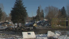 Heavy equipment was brought in to demolish the remaining units at the Midfield Mobile Home Park.