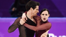 Tessa Virtue, right, and Scott Moir