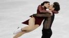 Tessa Virtue and Scott Moir of Canada perform at the 2018 Winter Olympics in Gangneung, South Korea, Feb. 20, 2018. (AP/Bernat Armangue)