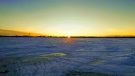 Ice fishing on Lake Winnipeg. Photo by Liz & Don.