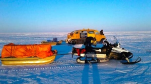 Heading home after a day of commercial fishing on Lake Winnipeg. Photo by Lenny Ballantyne.