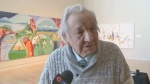 Indigenous artist Alex Janvier says his work reflects his own native heritage.