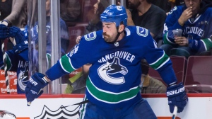 Vancouver Canucks' Erik Gudbranson is shown during the first period of an NHL hockey game in Vancouver, B.C., on Thursday November 16, 2017. THE CANADIAN PRESS/Darryl Dyck