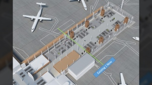 A rendering of the Victoria airport's $19.4-million expansion project, which will double the size of its existing lounge. Feb. 20, 2018. (Victoria Airport Authority)