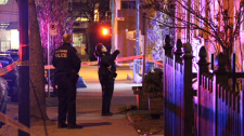 Police said the 23-year-old suspect and the two stabbing victims are known to each other.