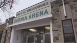 Exterior shot of the Sarnia arena