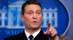 Dr. Ronny Jackson speaks to reporters at the White House on Jan. 16, 2018. (Manuel Balce Ceneta / AP)