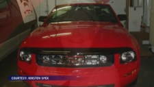 An Alberta woman has found her former mustang that has sentimental meaning.