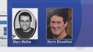 Marc Methe and Norm Bisaillon were killed in 2014
