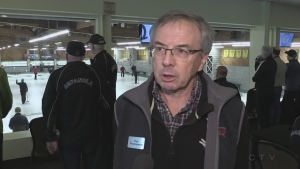 Bonspiel organizer Patrick Thompson