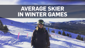 Average skier in Winter Games