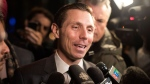 Ontario PC Leadership candidate Patrick Brown leaves the Ontario PC Party Head Offices in Toronto on Tuesday, February 20, 2018. THE CANADIAN PRESS/Chris Young