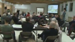 NDG residents attend a meeting concerning the trees to be planted in NDG Park