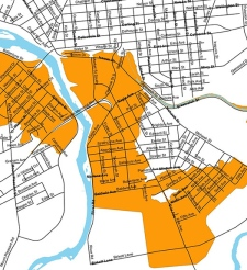 Brantford evacuation map