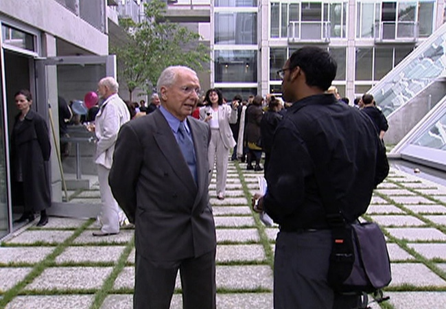 Internationally acclaimed Vancouver architect Arthur Erickson in an interview with CTV in this file photo. Erickson died Wednesday at the age of 84, his family announced. May 20, 2009. (CTV)