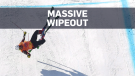 Canadian skier wipes out during Winter Games