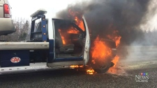 Truck fire shuts down Cape Breton highway
