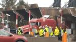 Truck crashes into MacKay Bridge toll booth