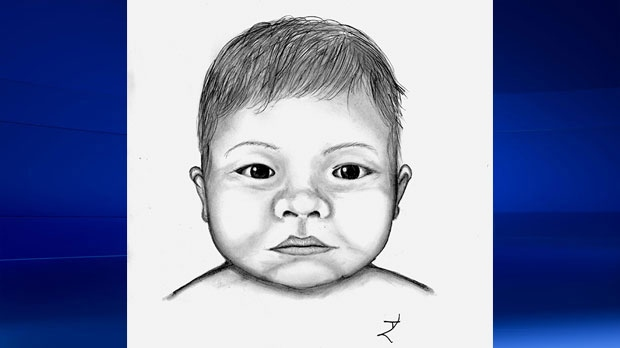 Calgary police released a composite sketch of the newborn girl, dubbed 'Baby Eve', during the investigation. (File)