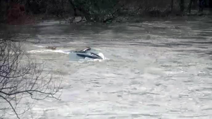 Car in Grand River