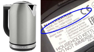 The product's serial number can found on the bottom of the kettle or on the kettle's base. (Handout)