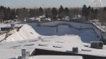The city assessed the damage after the roof collapsed at the Fairview Arena on Tuesday, February 20, 2018.