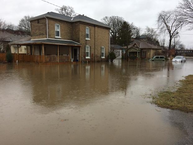 Grand River Avenue flood