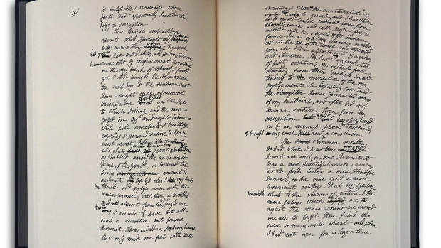 The handwritten manuscript of 'Frankenstein' by Mary Shelley will be published this month by SP Books. (Courtesy of SP Books)