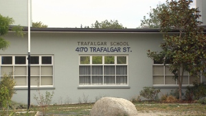 Trafalgar Elementary School is seen in this image from Wednesday, Feb. 21, 2018.