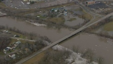 Extended: Aerial view of Grand River in Brantford