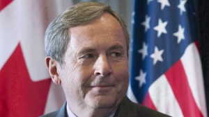 In this file photo, Canada's Ambassador to the United States David MacNaughton attends a business luncheon in Montreal, Wednesday, November 16, 2016. (THE CANADIAN PRESS / Graham Hughes)