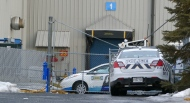 An unidentified white powder was discovered at the IKEA warehouse in Brossard.