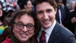 Vancouver-based celebrity chef Vikram Vij meets with Justin Trudeau, then leader of the federal Liberal Party, in March 2015. CTV News has learned that Global Affairs Canada paid for Vij to travel to India to prepare a meal for top diplomats. (Source: Justin Trudeau, Twitter)