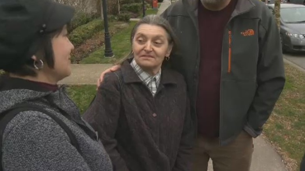 Dawn Douglas, 66, suffers from dementia and said she was devastated after her cat 'Snoop' was taken from her at Sunridge Care Facility. Feb. 21, 2018. (CTV Vancouver Island)
