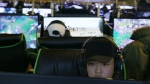 A gamer plays in one of many internet cafes in South Korea. It's estimated that more than half the population of the country plays video games.