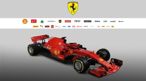 Ferrari's SF71H model is shown in this promotional image for the new car. (Ferrari)