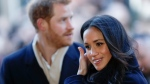 Meghan Markle arrives with Prince Harry at the Nottingham Contemporary to attend a Terrence Higgins Trust World AIDS Day charity fair, in Nottingham, England, Friday, Dec. 1, 2017. (Adrian Dennis/Pool Photo via AP)