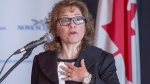 Nova Scotia Immigration Minister Lena Diab announces an immigration stream to help attract more international doctors and specialists to the province, in Halifax on Thursday, Feb. 22, 2018. THE CANADIAN PRESS/Andrew Vaughan