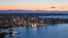 CTV News Vancouver's Pete Cline captured the Vancouver skyline during a flight in 2018.