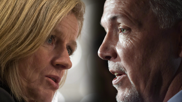 Rachel Notley and John Horgan