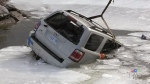 SUV goes through ice on Lake Simcoe