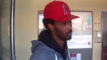 Police have released a surveillance still of an unidentified man believed to be connected to four bank robberies in 2017 (CPS)
