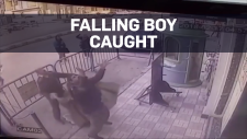 Caught on cam: Officers save falling 5-year-old