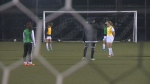 An under-15 girls soccer team in Saanich has been banned from playoffs over a rule surrounding how many players on the team can be out of the league's catchment area, a move the team says is heavy-handed. Feb. 22, 2018. (CTV Vancouver Island)